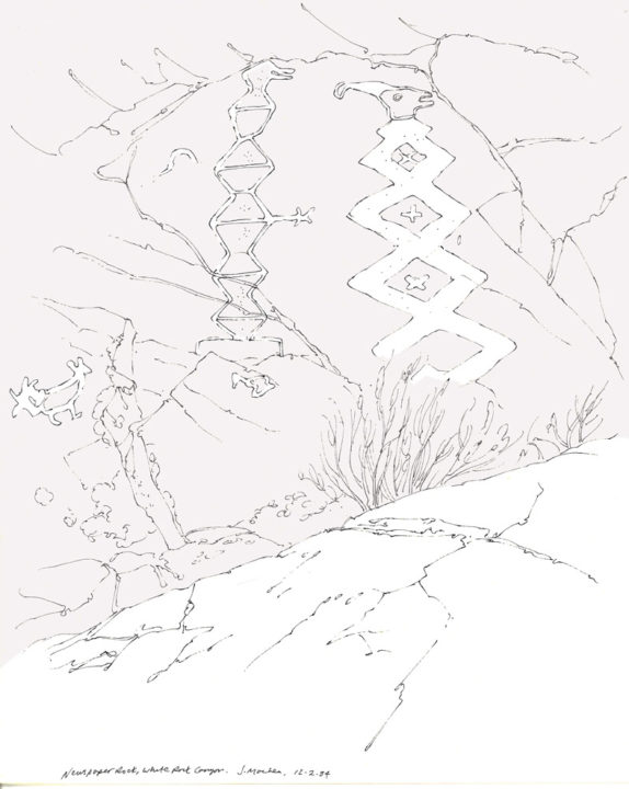 New Mexico Landscape Pen And Ink