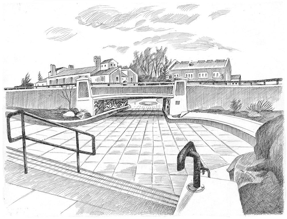 Underpass, Broadway and College Avenue, University of Colorado