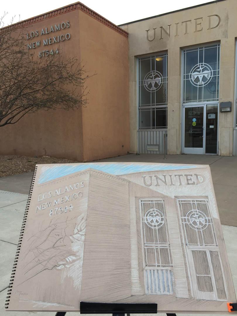 Los Alamos Post Office north view 3-27-19