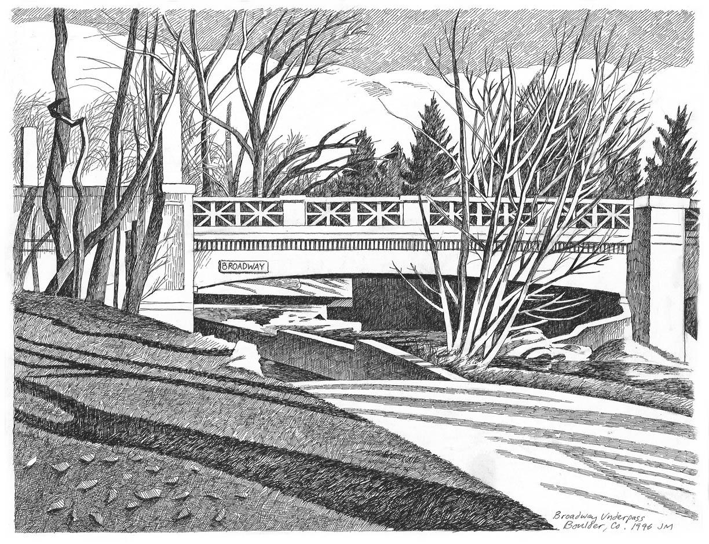 Bridge under Broadway, Boulder, 1996